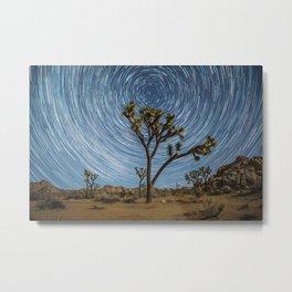 Joshua Tree Star Trail Metal Print