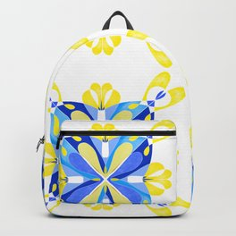 Blue and yellow tiles Backpack