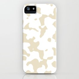 Large Spots - White and Pearl Brown iPhone Case