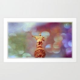 Columbus-Barcelona Art Print