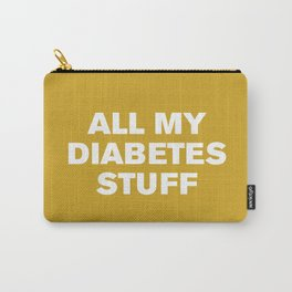 All My Diabetes Stuff (Lemon Curry) Carry-All Pouch