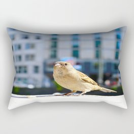 City Bird Lovely Sparrow Rectangular Pillow