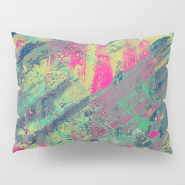 Colour Relaxation - Abstract, textured oil painting Pillow Sham