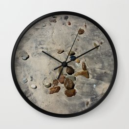 Beach after the surf goes out Wall Clock