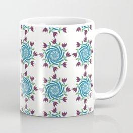 Swirls & Flowers-deep aqua Coffee Mug