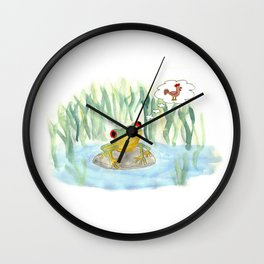 The story of the Chicken Frog Wall Clock