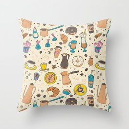 Spicy coffee Throw Pillow