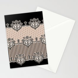 Dakota Black Lace Stationery Cards