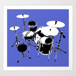 Drumkit Silhouette (backview) Art Print