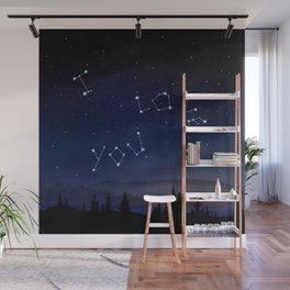 I love You Stars Design Wall Mural