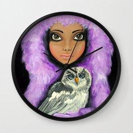 Angelica's Owl  Wall Clock
