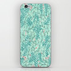 Blue Leaves iPhone & iPod Skin
