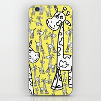giraffes iPhone & iPod Skins featuring giraffes  by Whatcha-McCall-it