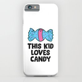This Kid Loves Candy Kids Halloween Costume Love Sweets iPhone Case