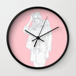 tired girl Wall Clock