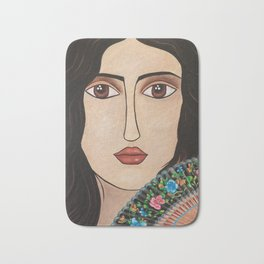Spanish Woman Bath Mat
