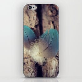Feather blues iPhone Skin