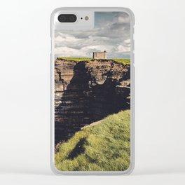 Irish Sea Cliffs Clear iPhone Case
