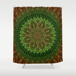 Earth Flower Mandala Shower Curtain