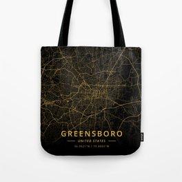 Greensboro, United States - Gold Tote Bag