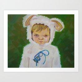 Sad Lamb Art Print