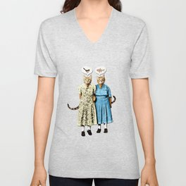 Two Cool Kitties: What's for Lunch? Unisex V-Neck
