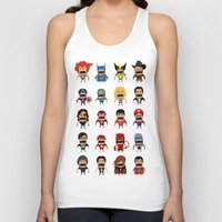 heroes Tank Tops featuring Screaming Heroes by That Design Bastard