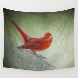Song of the Summer Tanager 4 - Birds Wall Tapestry