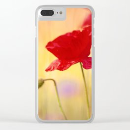Poppy-style character Clear iPhone Case