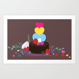 a fanciful chocolate dessert Art Print