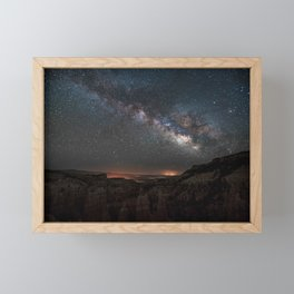 MILKY WAY OVER FAIRYLAND CANYON Framed Mini Art Print