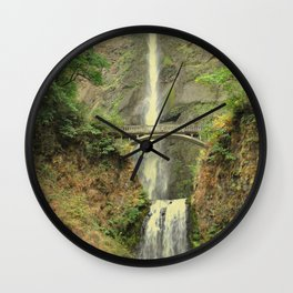 MULTNOMAH FALLS - OREGON Wall Clock