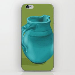 Teal Vase of Italy iPhone Skin