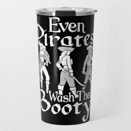 Halloween Even Pirates Wash Their Booty Travel Mug