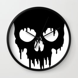 Black Skull dripping Wall Clock