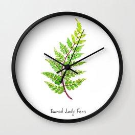 Eared Lady Fern Wall Clock
