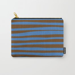 Brown & Blue Stripes  Carry-All Pouch