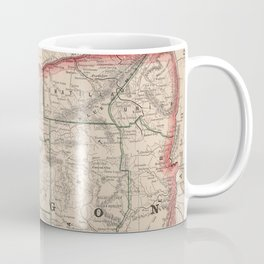 Vintage Map of Oregon (1883) Coffee Mug