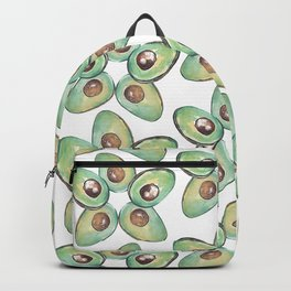 Green Avocado slices pop star_hand painted watercolour Backpack