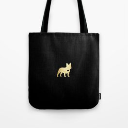 French Bulldog Gold Tote Bag