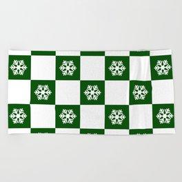 Winter - hunter green check - more colors Beach Towel