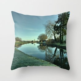 Moorings Reflections Throw Pillow