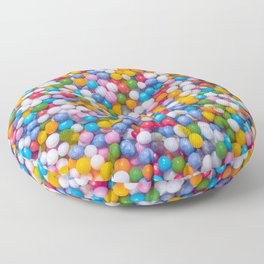 Rainbow Pastel Multicolored Sprinkle Dots Real Candy Pattern  Floor Pillow