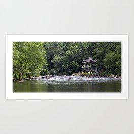 Calming the River Art Print