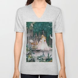 Prince Who Notices Lassi On The Tree Trying To Drink Water In The Fountain Unisex V-Neck