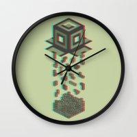 tetris Wall Clocks featuring Tetris by Delaney Digital
