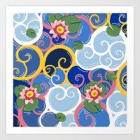 Lily Garden Art Print