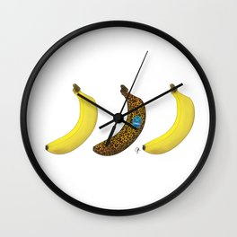 Cheetah Banana Wall Clock