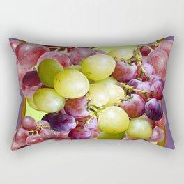 PURPLE & GREEN GRAPES VINEYARD PURPLE DESIGN Rectangular Pillow