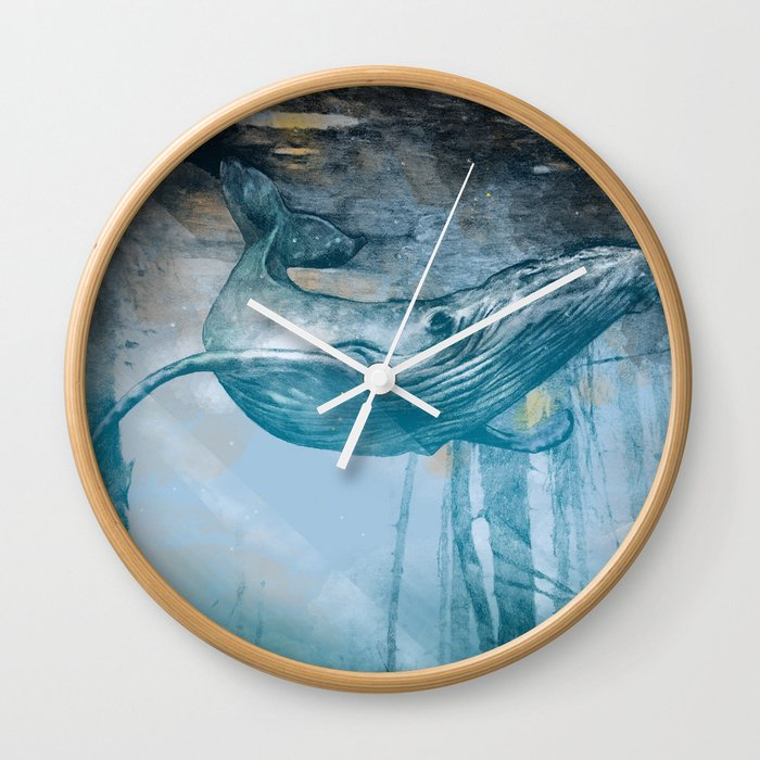 Whale story Wall Clock